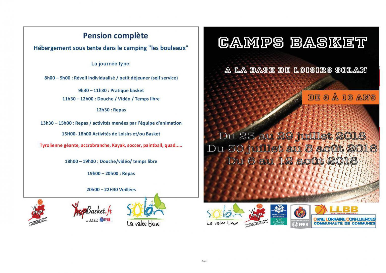Camp Basket 2018